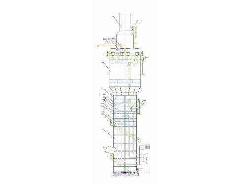脱硫与湿式静电除尘器二合一吸收塔