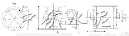 DXV-Y EX卸料阀安装尺寸和技术特性表
