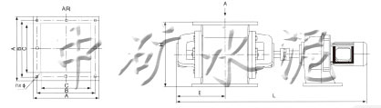 DXV-F P卸料阀安装尺寸和技术特性表