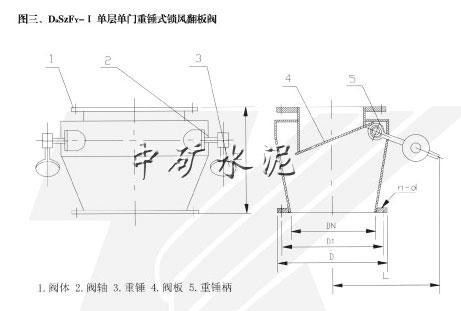 单层重锤式锁风翻板阀